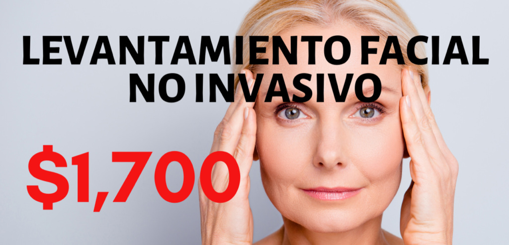 Non invasive facial lift cost on banner