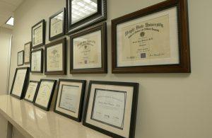 Awards and Certificates James Watson at SBC